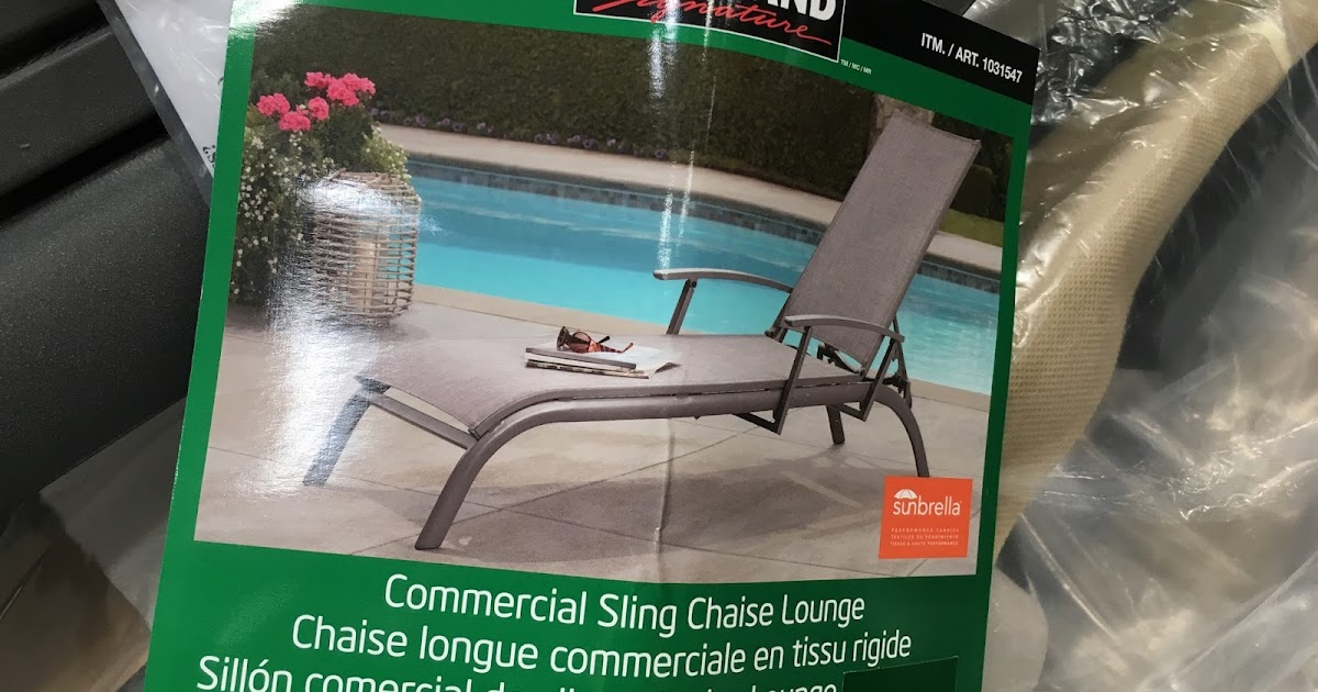 Costco Lounge Chairs Rolling Chair Mat For Wood Floors Kirkland Signature Commercial Sling Chaise | Weekender