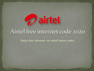 Airtel free internet code 2020