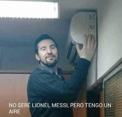 No seré Lionel Messi, pero tengo un aire
