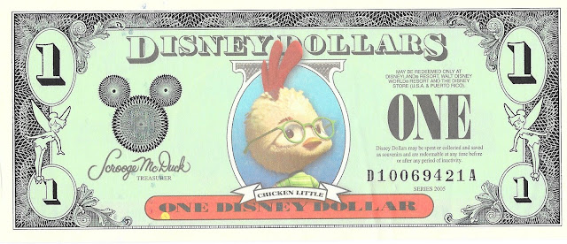 Chicken Little Disney Dollar Walt Disney World