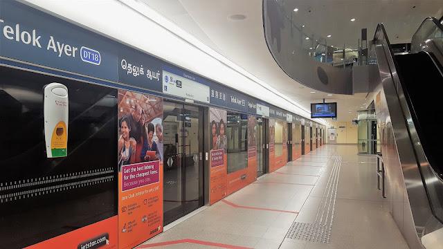 interior of a subway station