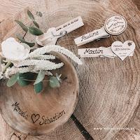 Glupperl als Gastgeschenk für Hochzeit, Namensklammern für Sitzordnung, Platzkarten, Tischdeko, Hochzeitssouvenir, Hochzeitsklammern, Give Away, Save the Date