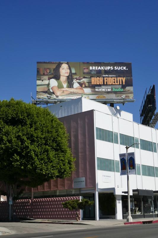 High Fidelity TV remake billboard