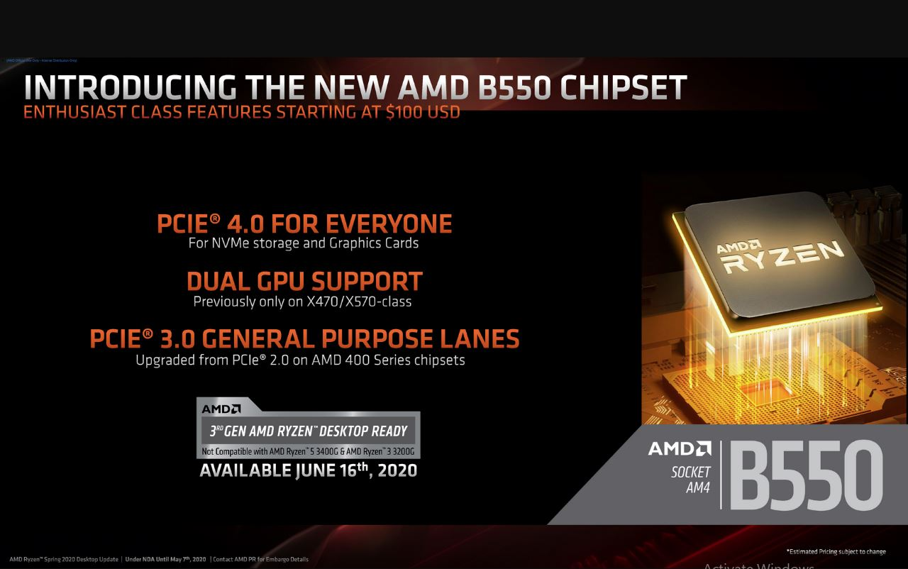 Introducing the new B550 chipset