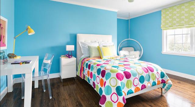 warna cat kamar tidur yang menenangkan hati