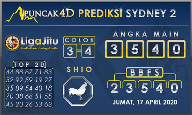 PREDIKSI TOGEL SYDNEY2 PUNCAK4D 17 APRIL 2020