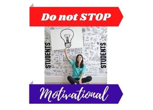 Successful student DO NOT STOP - Motivational 2020