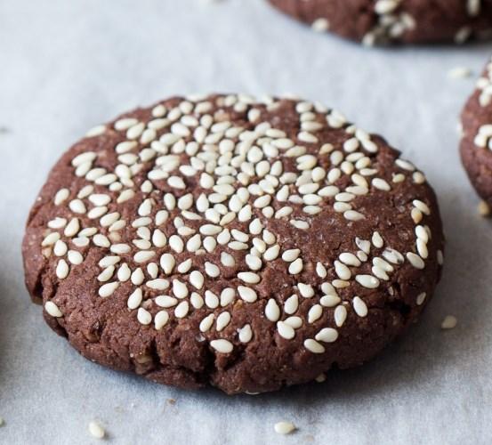 CHOCOLATE TAHINI COOKIES #desserts #sweets