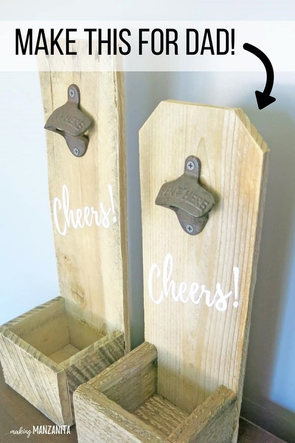 How to make DIY bottle opener with pallets or fence boards