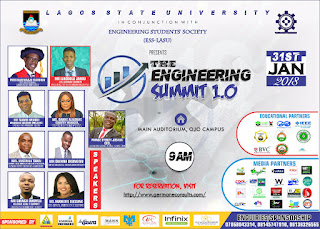 Registration Commences For The Engineering Summit 1.0 at Lagos State University