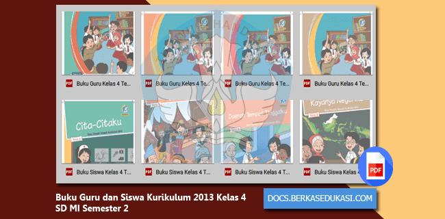 Buku Guru dan Siswa Kurikulum 2013 Kelas 4 SD MI Semester 2