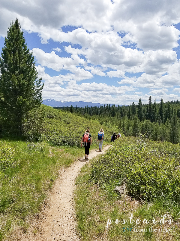 hiking the trails in Grand Tetons National Park