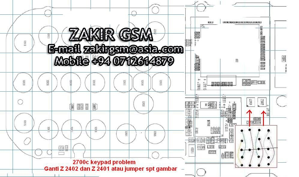 Mobile Phone Repairing ZAKIR GSM: 2700c keypad Solution