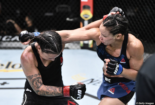 Raquel Pennington dodges Marion Reneau UFC On ESPN 11