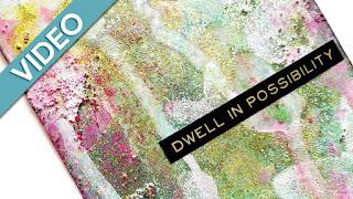 Glittery Mixed Media Art Journal Tag | Fluid Acrylics, Glass Bead Gel, Glitter