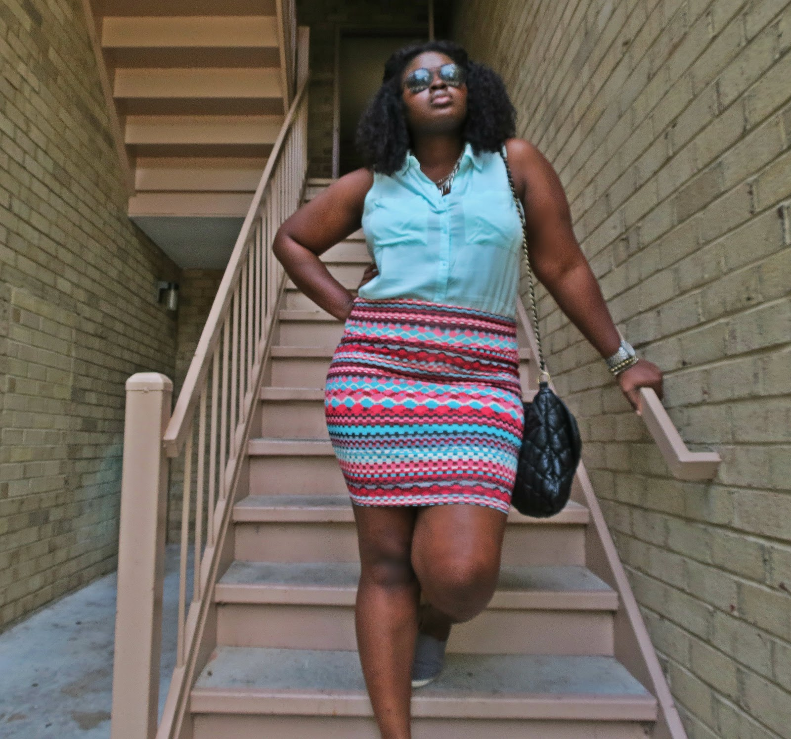 ways to wear a body-con skirt plus size