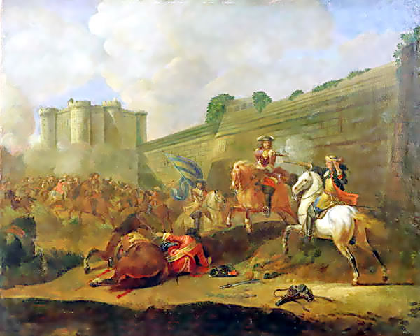 Battle of the Faubourg St Antoine (1652) by the walls of the Bastille, Paris