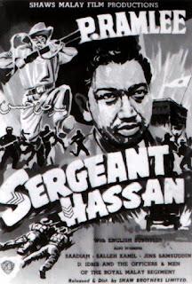 Filem Sarjan Hassan Lakonan P Ramlee, Saadiah, Jins Shamsuddin, askar melayu lawan tentera jepun,