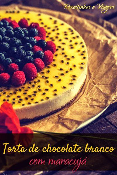 Torta de chocolate e maracuja #Receita