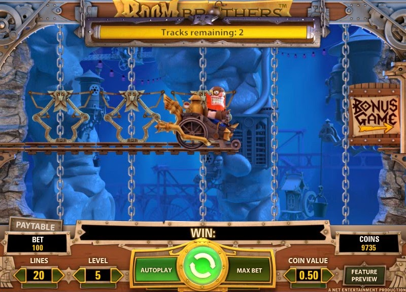 Boom Brothers Video Slot Screen