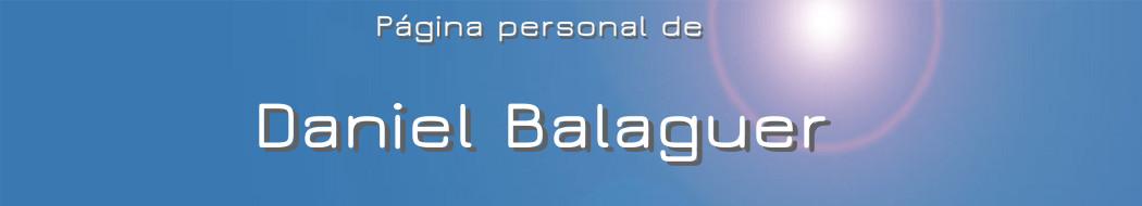 Cabecera de la página personal de Daniel Balaguer