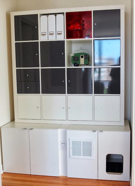 AKURUM Cat Litter Box + EXPEDIT Office Storage