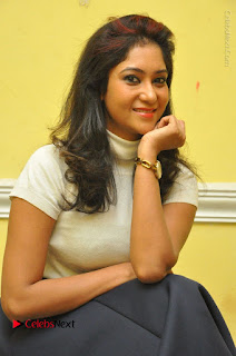 Telugu Actress Sindhu Affan Latest Pos in Black Skirt at Www.Meena Bazaar Movie Opening  0020.JPG