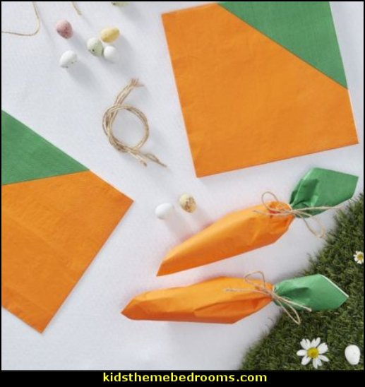 Carrot Shaped Paper Napkins  Peter Rabbit party supplies - Peter Rabbit Party Ideas - Peter Rabbit Party Theme  decorations - Peter Rabbit birthday party decorations - Peter Rabbit spring garden party decorating - garden party - Carrots Chocolate Candy molds  -  Carrot cake cookie molds - flower decorations - bunny party sweets - bunny party supplies
