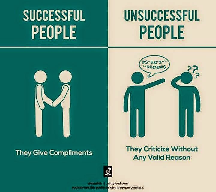 4 Successful People Gives Compliments & Unsuccessful People Criticize Without Valid Reason