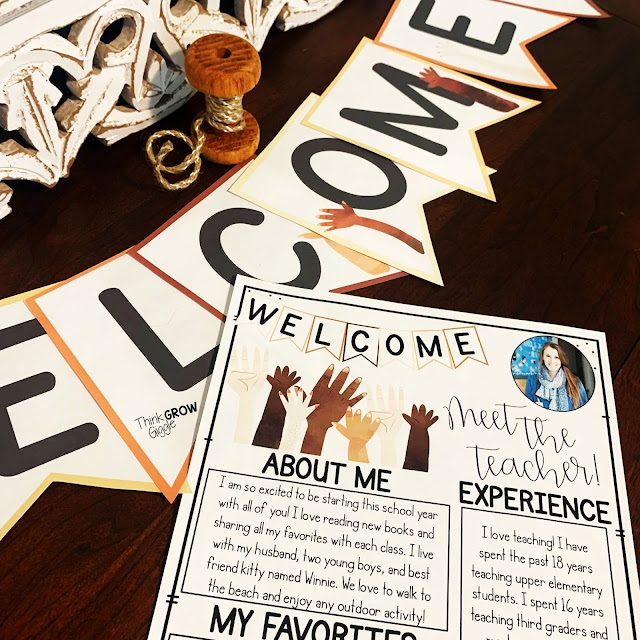 All Are Welcome Back to School Printables