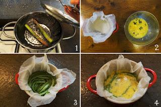 foto preparazione Ricetta frittata di asparagi al forno al profumo di nipitella per bambini