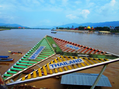 как выглядит граница Таиланда, Лаоса и Мьянмы