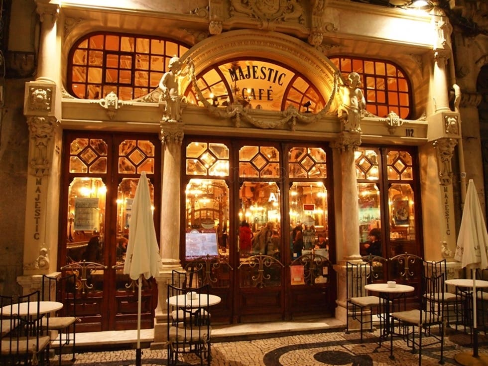 majestic cafe porto portugal breakfast