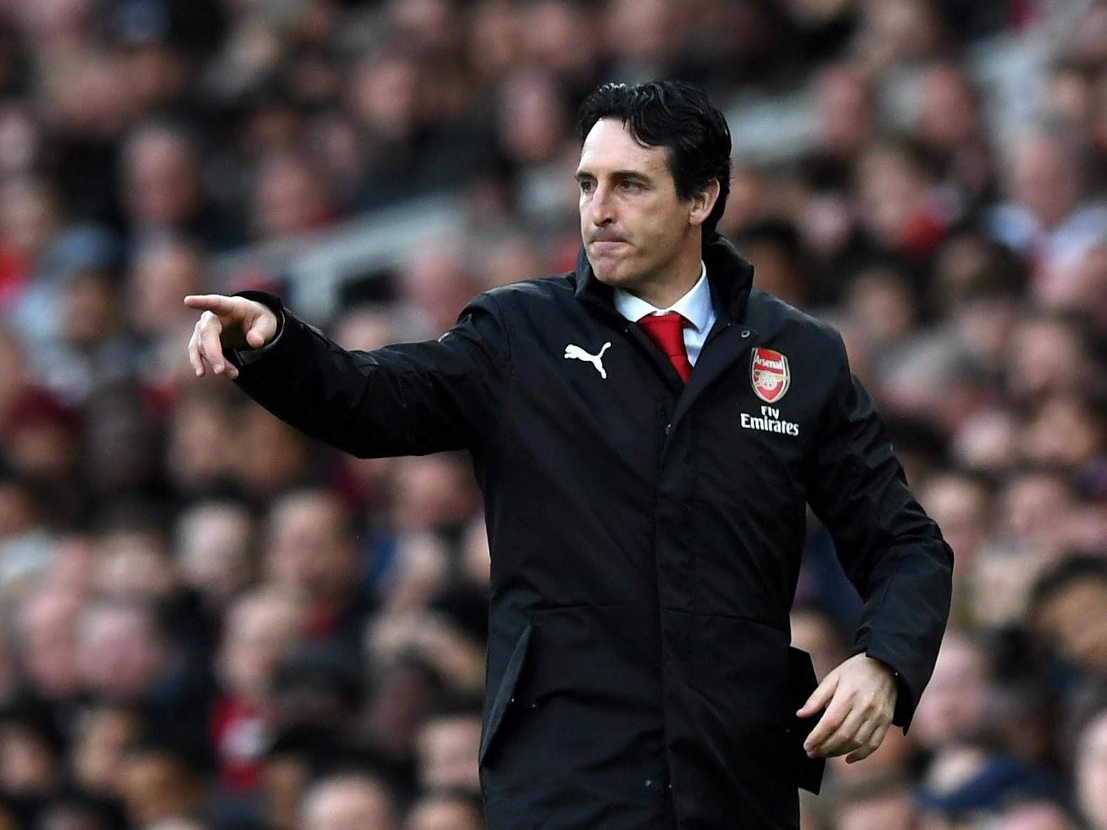 Arsenal coach Unai Emery