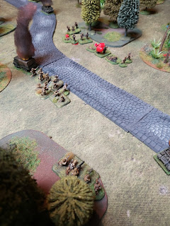 The Japanese infantry close assault