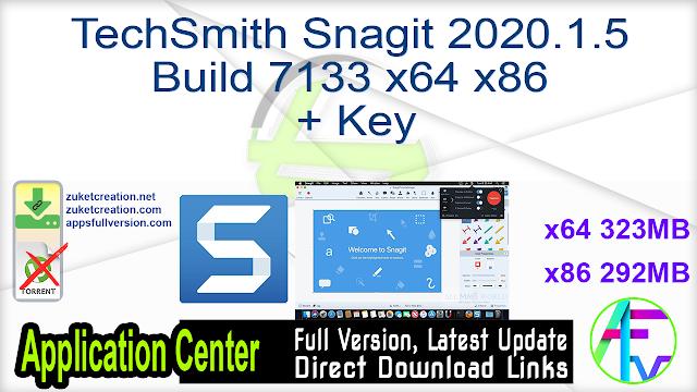 TechSmith Snagit 2020.1.5 Build 7133 x64 x86 + Key