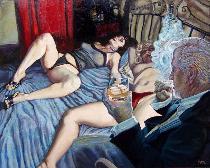 Тревожные и интригующие фигуративные картины. Louie Metz