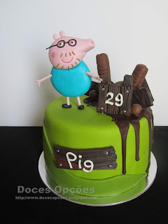 Bolo de aniversário do pai Pig