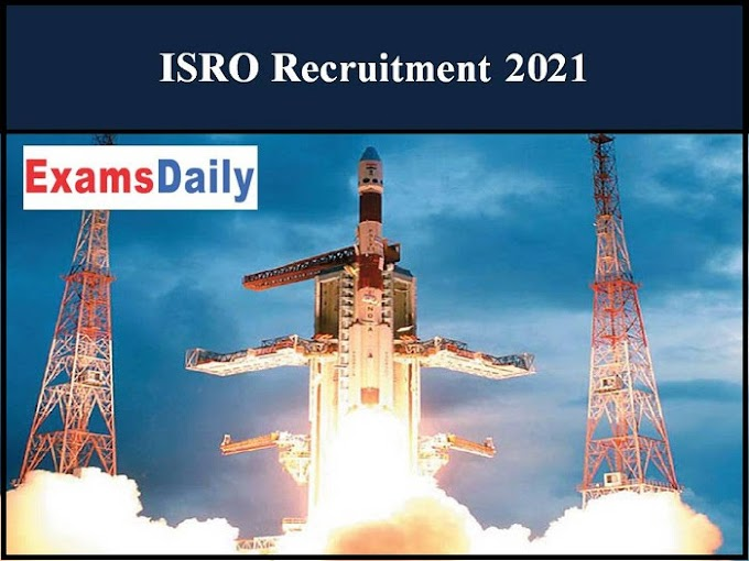 ISRO Apprentice Recruitment 2021 OUT – Apply Online Here 2021