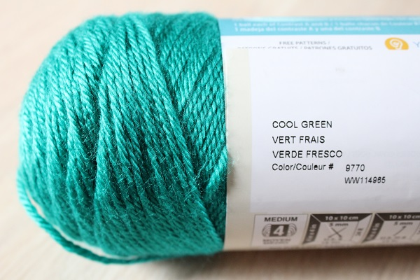 crafts, crochet, yarn, WIP, Simply Soft, Cool Green