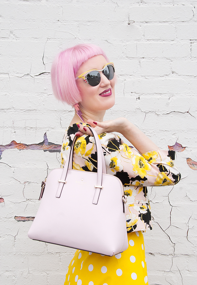 Kate Spade, maise, pink handbag