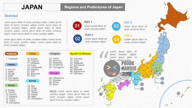 Maps Regions and Prefectures of Japan PPTX