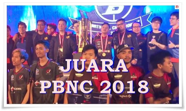 Juara PBNC 2018 RRQ ENDEAVOUR