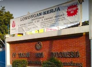 Karir Lowongan Kerja PT Yakjin Jaya Indonesia  2018 Terbaru