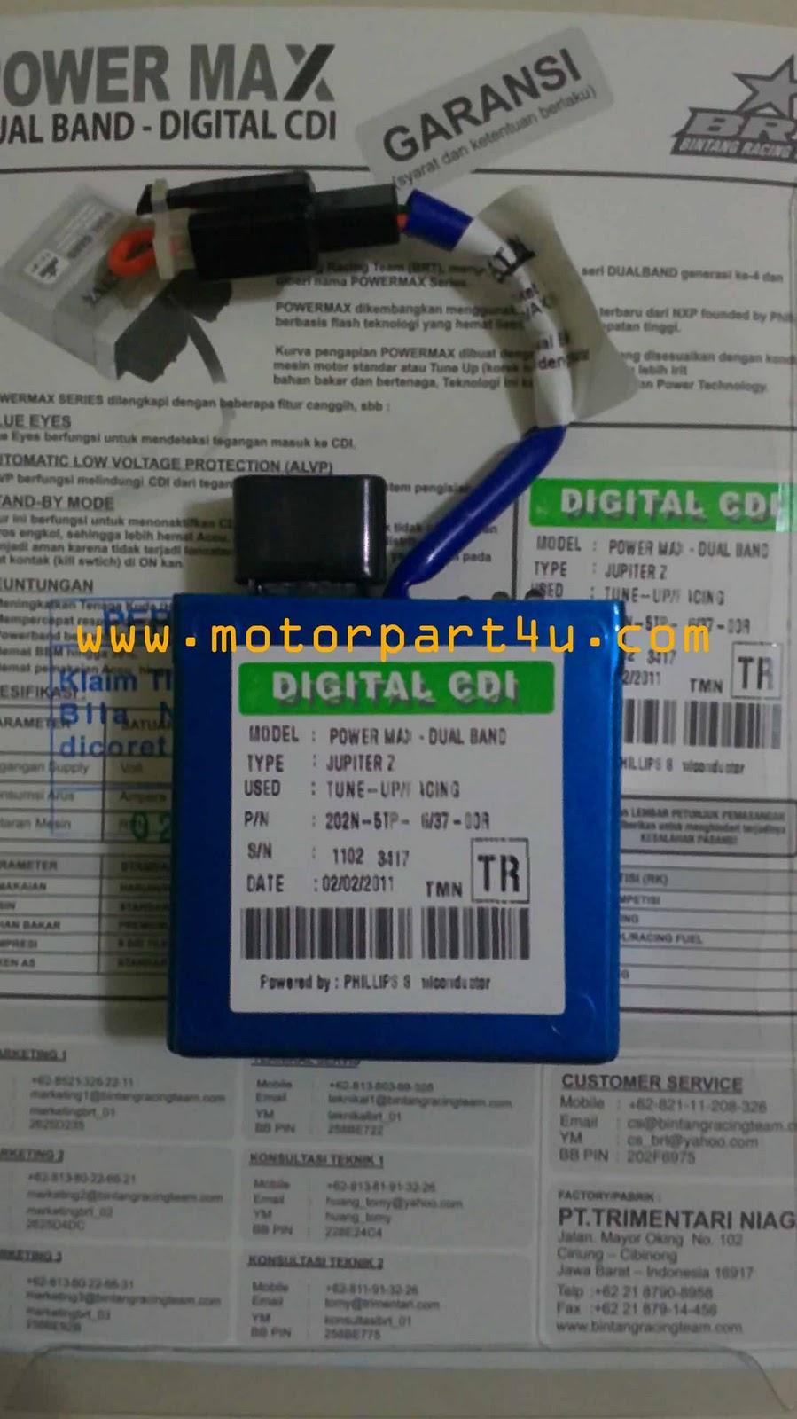 CDI BRT POWERMAX DUALBAND LAGENDA 110 / SRL110 / JUPITER Z