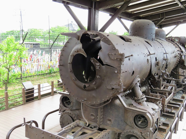 Bombed out train from the Korean War in the DMZ