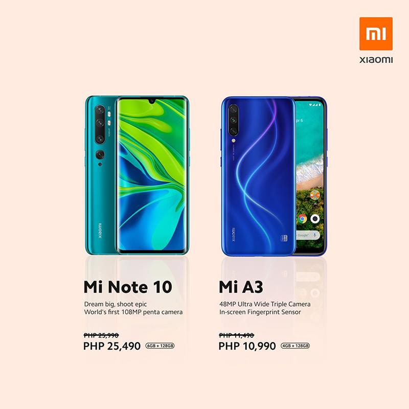 Mi Note 10 and Mi A3 price cut