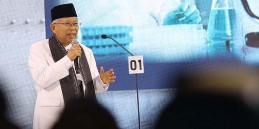 Ma'ruf soal Debat Cawapres: Saya Dengar Jokowi Sangat Puas