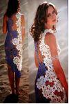 Vestido floral crochet