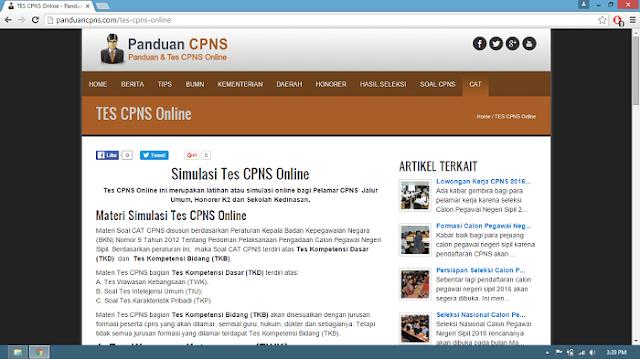 website panduancpns.com